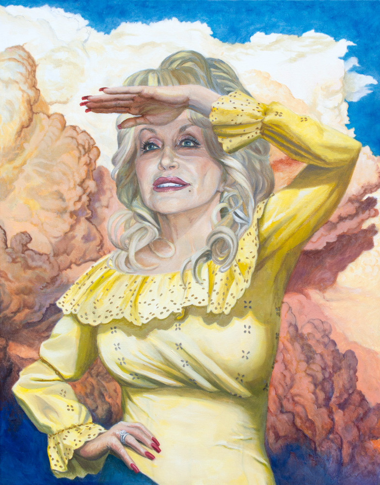 Dolly Looks Into The Future Art | Kym Day Studio