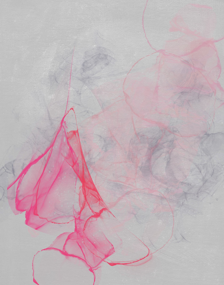 Pink And Grey Abstract Art   onlythemoon