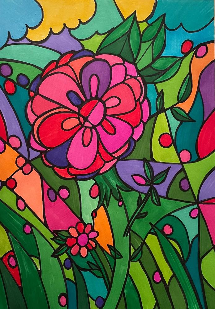 Stained Golass Flower 2 Art   Marci Brockmann Author, Artist, Podcaster & Educator