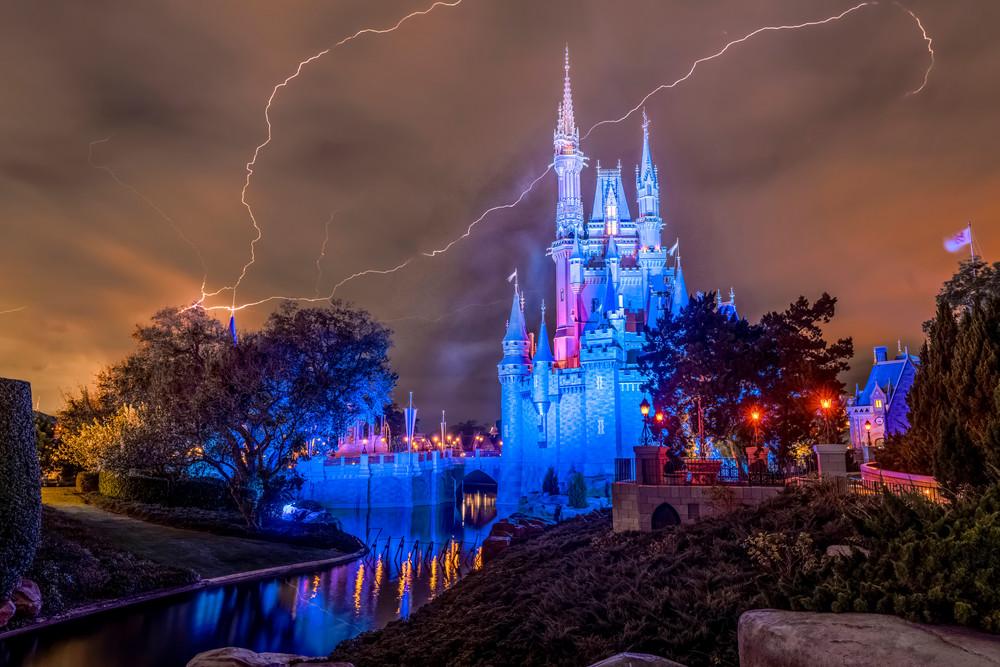 A Stormy Evening at Cinderella Castle - Disney Art | William Drew Photography