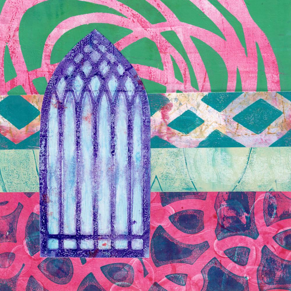 Window To Another World: Mixed media artwork by Jennifer Akkermans