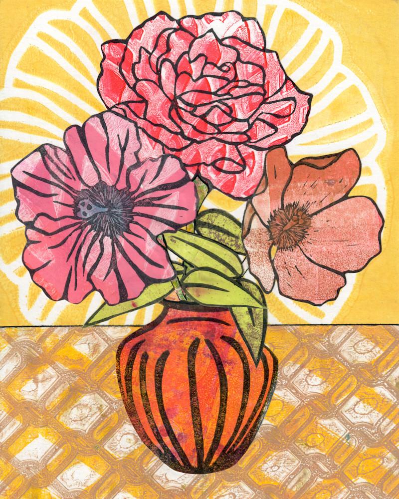 Love: Mixed media Floral artwork by Jennifer Akkermans