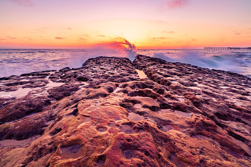 Cutting Wave in Ocean Beach, San Diego Fine Art Print