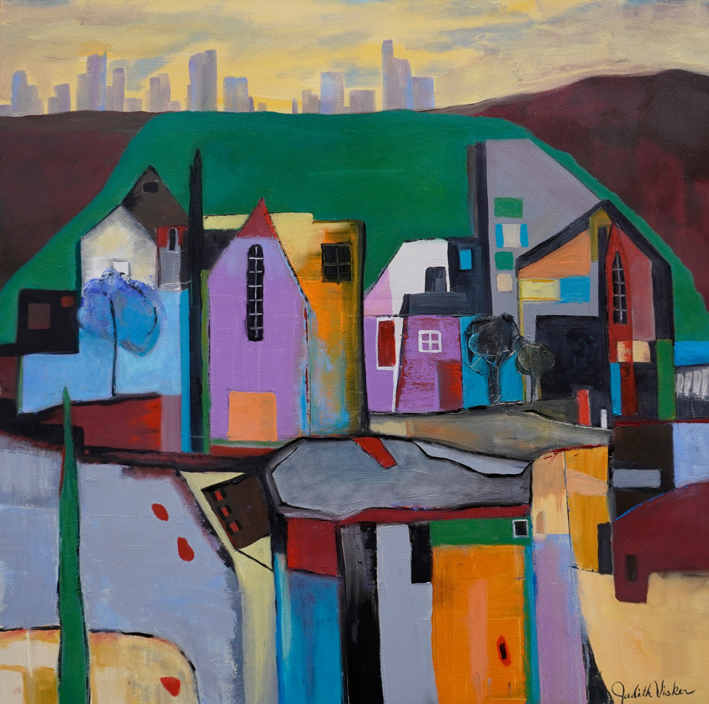 Village Near The City Art | Judith Visker Art