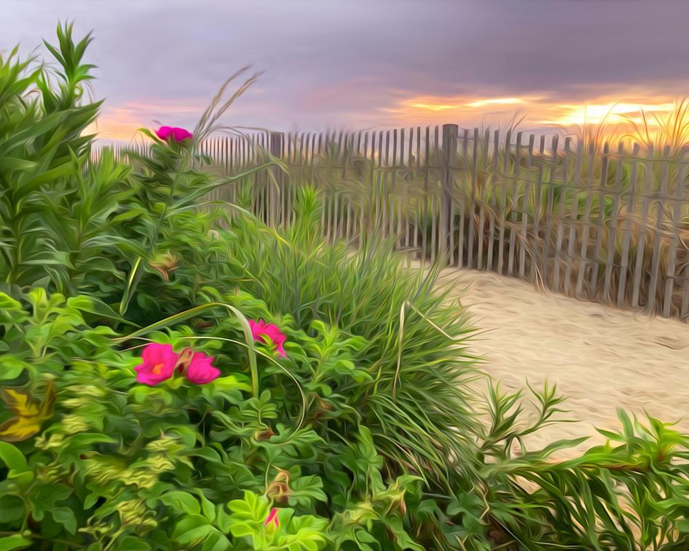 Beach Roses Tote Bag Photography Art   Silver Sun Photography