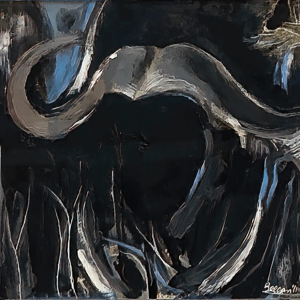Buffalo Blue No. 1, 2011 by artist Carolyn A. Beegan