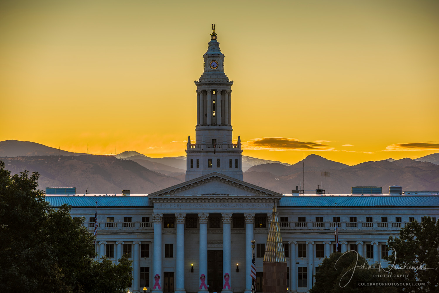 Sunset Photograph Of Denver City And County Government