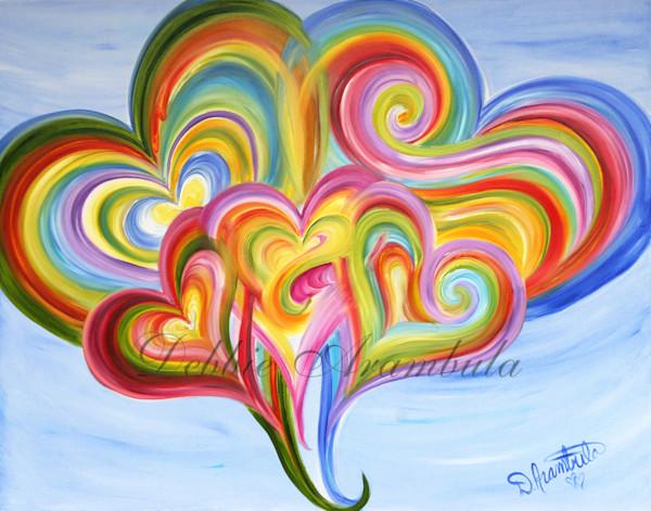 Family Bliss Blue Art | Heartworks Studio Inc