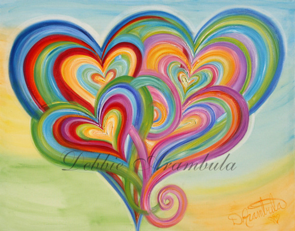 Rainbow Family Art | Heartworks Studio Inc