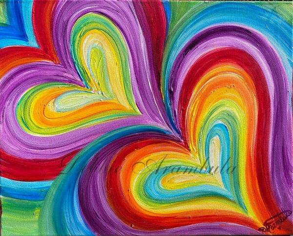 Purple  Love Vibration Art   Heartworks Studio Inc