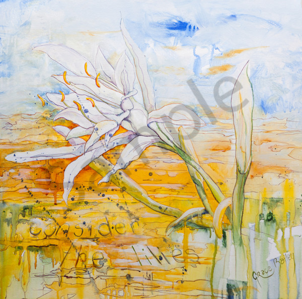 """Consider The Lilies"" by Australian artist Grace Bailey 