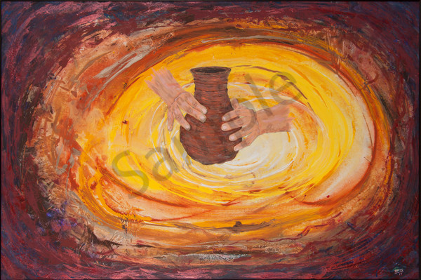"""The Potter's Hand"" by artist Bronson Burdick 