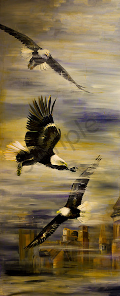 """Eagles""  by artist Patti Hricinak-Sheets 