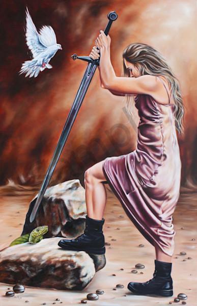 """Warrior"" by South African Artist Ilse Maria Kleyn | Prophetics Gallery"