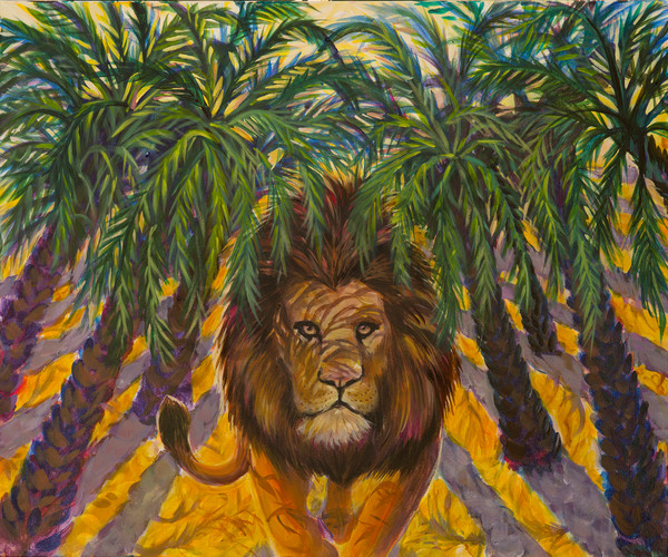 """The Righteous Are As Bold As A Lion"" Acrylic Painting by Karen Calden Fulk 