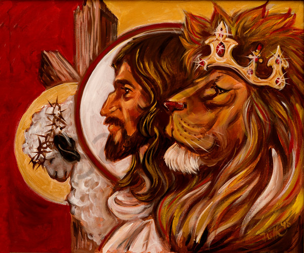 """He Was, He Is, He Is To Come""by Karen Calden Fulk 