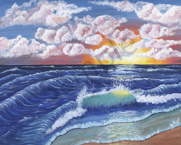 """""""He Shall Have Dominion From Sea To Sea"""" by Genevieve Roy   Prophetics Gallery"""