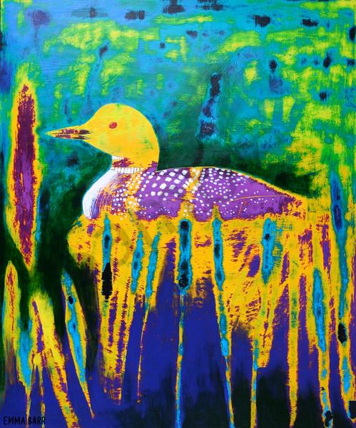 Nesting Loon   Deluxe Canvas Print   Emma Barr Fine Art