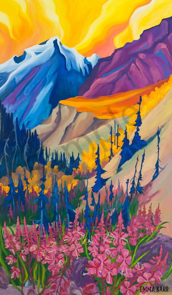 Beauty in Kluane Sunset | Deluxe Canvas Print |  Emma Barr Fine Art
