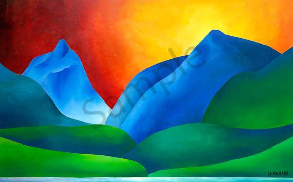 Crag Lake Sunset | Deluxe Canvas Print | Emma Barr Fine Art
