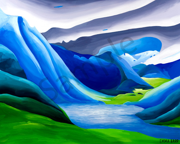 Fish Lake from Mt. Mac | Deluxe Canvas Print | Emma Barr Fine Art
