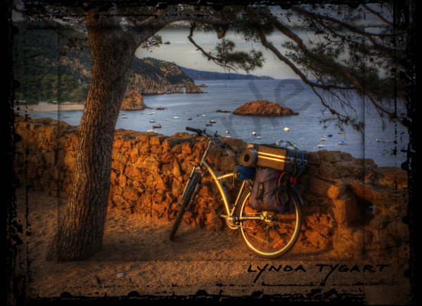 Lynda Tygart Bicycle By Costa Brava Spain Europe Sea – Fine Art Photographs Prints on Canvas, Paper, Metal & More.