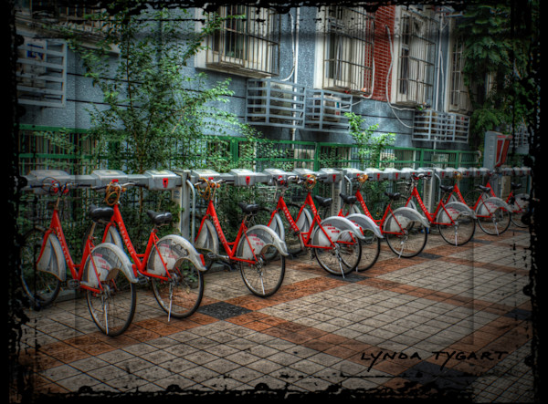 Lynda Tygart Beijing China Rental Bikes – Fine Art Photographs Prints on Canvas, Paper, Metal & More.