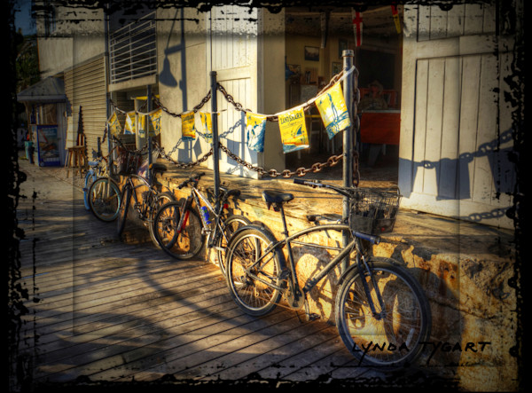 Lynda Tygart Bicycles in Key West Florida – Fine Art Photographs Prints on Canvas, Paper, Metal & More.