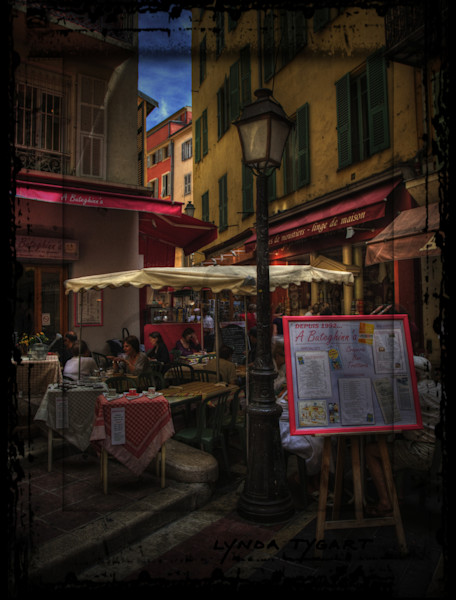 Lynda Tygart Nice France Europe Cafe – Fine Art Photographs Prints on Canvas, Paper, Metal & More.