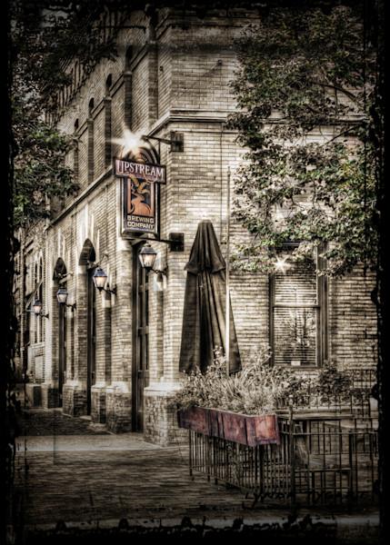 Lynda Tygart Cafe Restaurant Pub Old Market Omaha Nebraska Upstream Brewery – Fine Art Photographs Prints on Canvas, Paper, Metal and More.