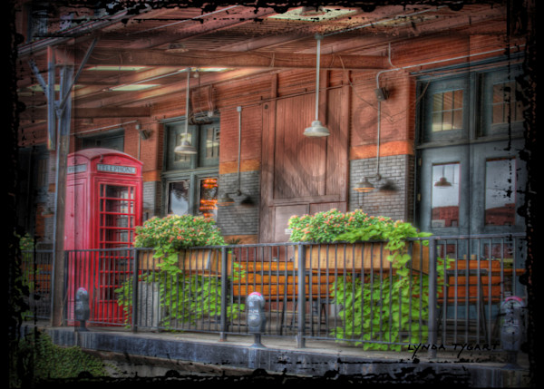 Lynda Tygart Telephone Booth Old Market Omaha Nebraska – Fine Art Photographs Prints on Canvas, Paper, Metal and More.