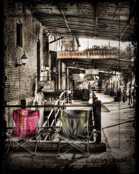 Lynda Tygart Chairs Old Market Omaha Nebraska – Fine Art Photographs Prints on Canvas, Paper, Metal and More.
