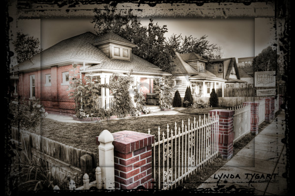 Lynda Tygart Fine Art Photographs Prints of Tennyson Street Cottages in Tennyson Berkeley Neighborhood on Canvas, Paper, Metal & More.