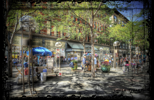 Lynda Tygart Fine Art Photographs Prints of Sixteenth Street Mall 16th Street Mall in Denver Colorado in Tennyson Berkeley Neighborhood on Canvas, Paper, Metal & More.
