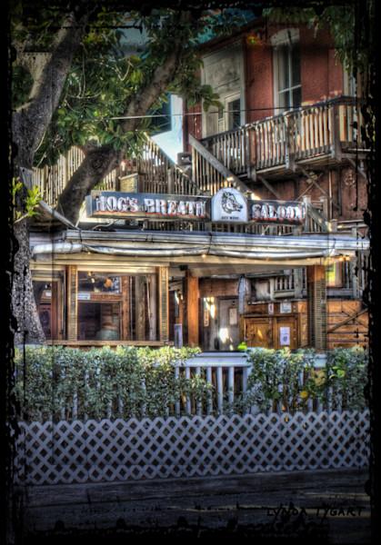 Lynda Tygart Hog's Breath Saloon Resaurant in Key West Florida – Fine Art Photographs Prints on Canvas, Paper, Metal & More.