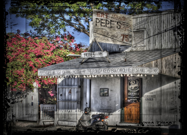 Lynda Tygart Pepe's Cafe Restaurant in Key West Florida – Fine Art Photographs Prints on Canvas, Paper, Metal & More.
