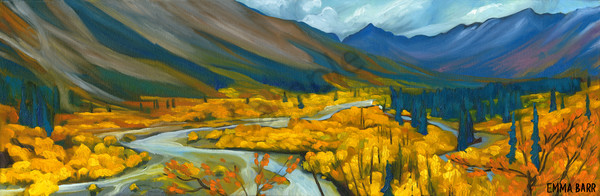 MacMillan River Valley | Deluxe Canvas Print | Emma Barr Fine Art