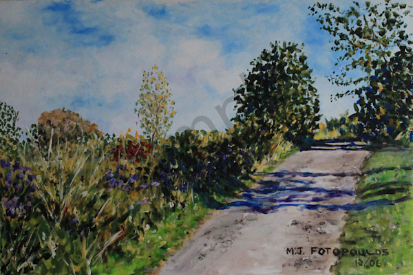 """Road With Shadows"" by Canadian Artist Joan Fotopoulos 