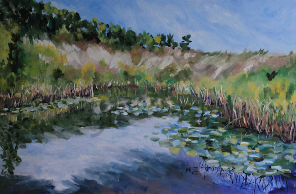 """Ridge Beyond The Pond"" by Joan Fotopoulos 