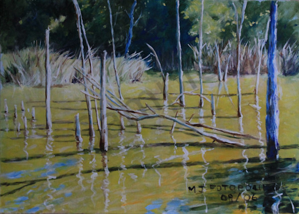 """Pond Of Gold"" by Joan Fotopoulos 