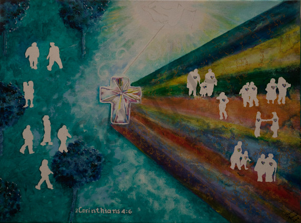 """""""Receiving the Light"""" by Sonia Farrell 