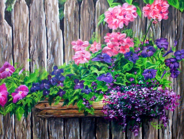 """Barnwood Flower Box"" by Gina Harding 