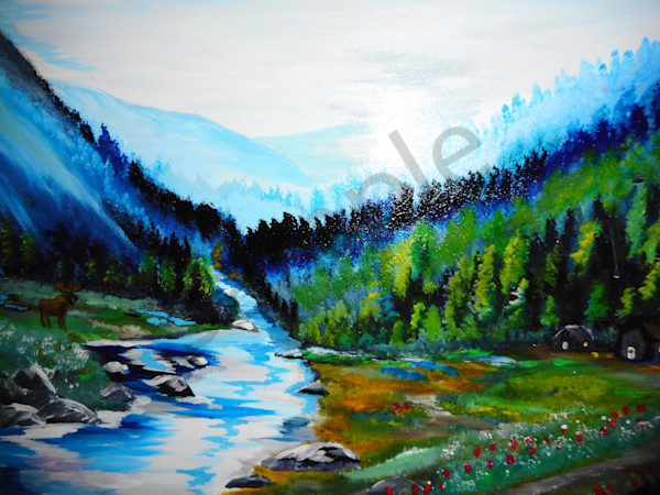 """By The Brook"" by Donald Cooper 