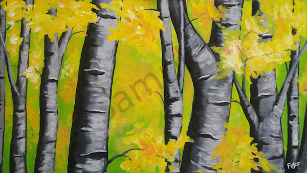 """Birch Trees"" by Mary Fusco 