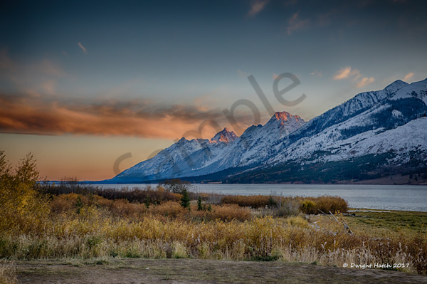 Sunset on the Grand Tetons