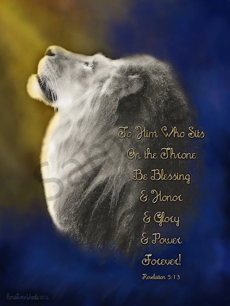 """Lion On The Throne"" by Constance Woods 