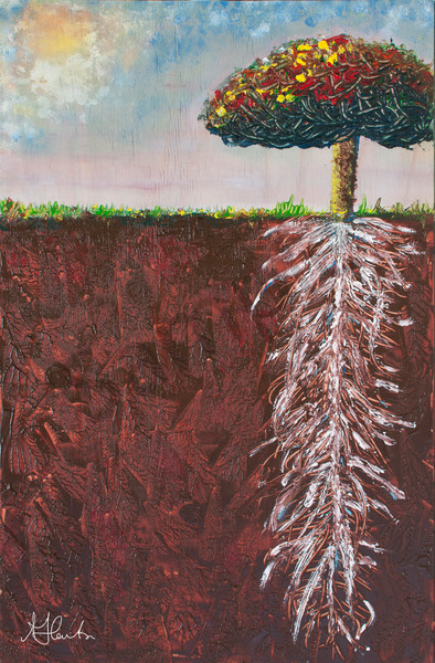 """""""Root And Shoot"""" by Jill Lawton   Prophetics Gallery"""