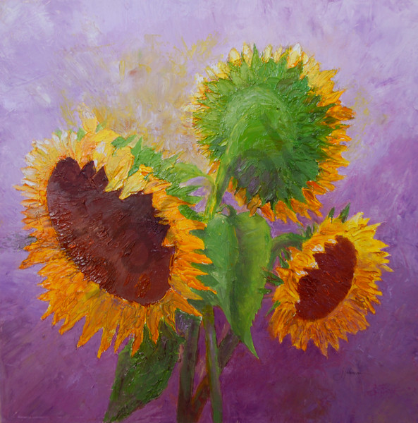 """Sunflower Trio"" by Judy Johnson | Prophetics Gallery"