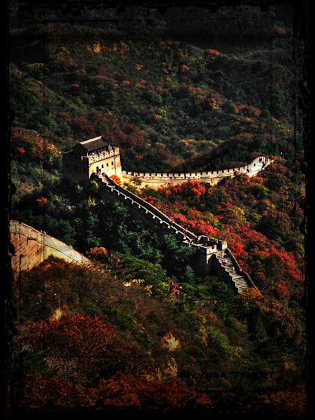 Tygart China Wall Vert Photography Art | LYNDA TYGART  ART PHOTOGRAPHS