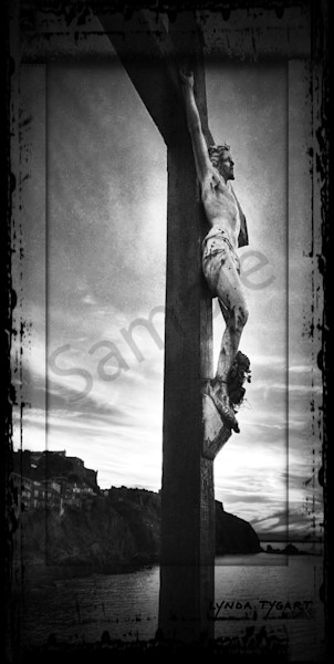 Tygart France Crucifix Bw Photography Art | LYNDA TYGART  ART PHOTOGRAPHS